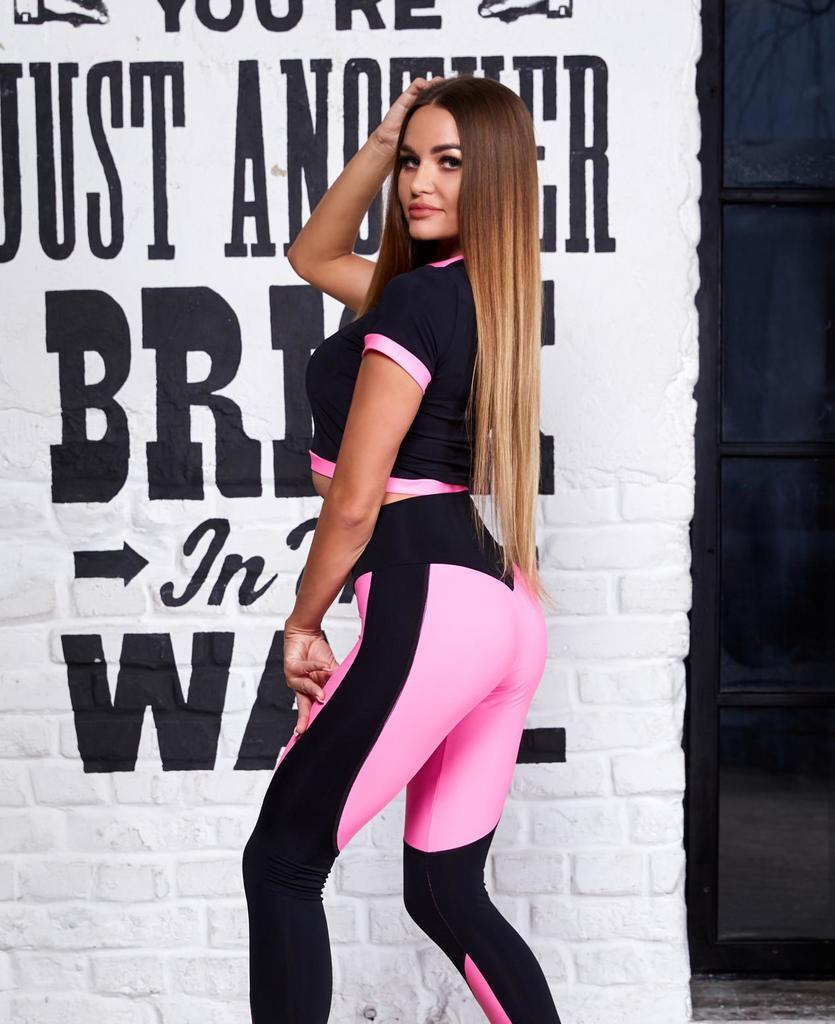 Топ NARROW WAIST (black/pink)