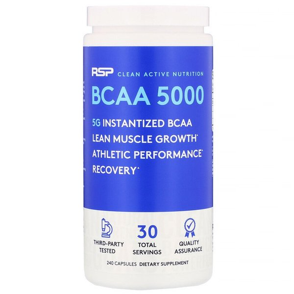 RSP Nutrition BCAA 5000 240 капсул