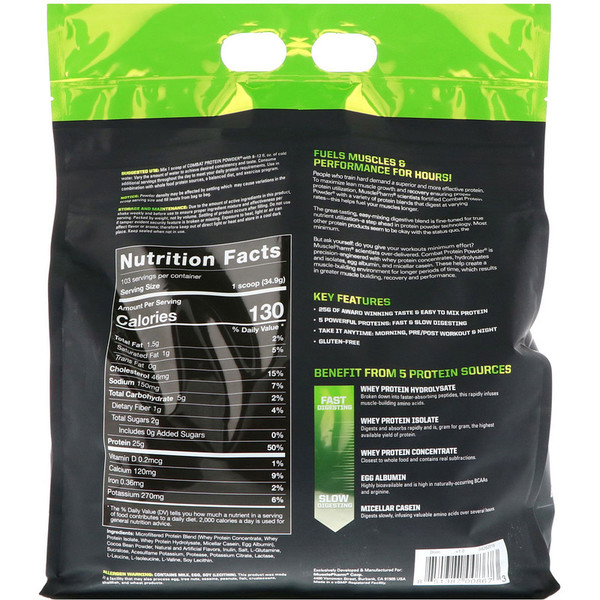 MusclePharm Combat Protein Powder 8 lbs (3629 g)