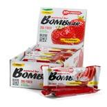 Протеиновые батончики BombBar (Клубника) 20шт