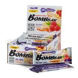 Протеиновые батончики BombBar (Малиновый Чизкейк) 20шт