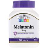 21st Century Melatonin 5 mg 120 Tablets