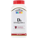 21st Century Витамин D3 5000 МЕ 360 таблеток