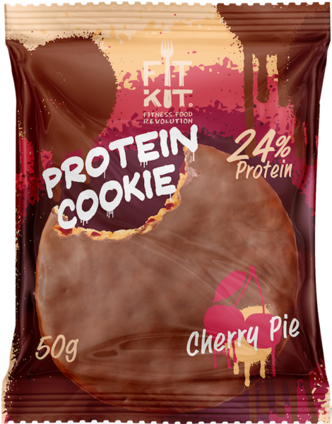 FitKit Choco Protein Cookie 50гр (Вишня)
