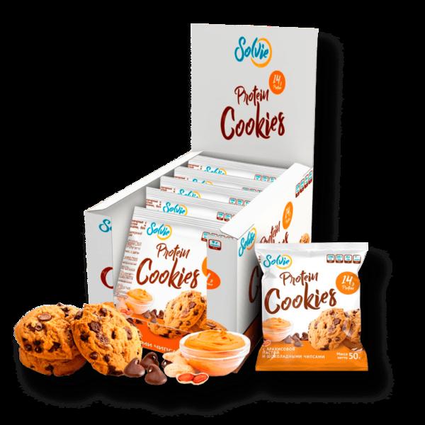 Печенье с арахисовой пастой и шоколадными чипсами
