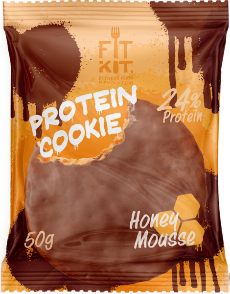 FitKit Choco Protein Cookie 50гр (Мёд)