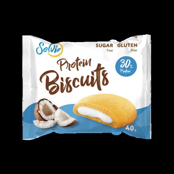 Solvie Бисквиты Протеиновые 40гр (Кокос)