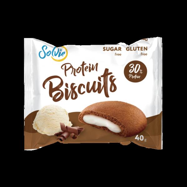 Solvie Бисквиты Протеиновые 40гр (Пломбир)