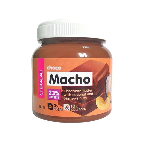 Паста Chikalab CHOCO MACHO (Шоколадная паста с кокосом и кешью)
