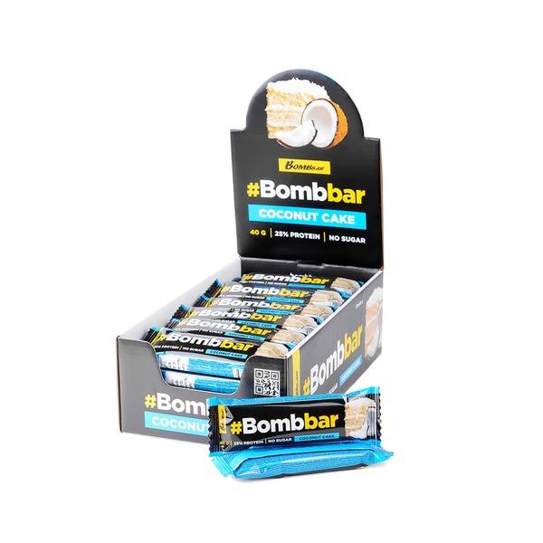 Протеиновый батончик Bombbar в шоколаде 40гр (Кокос)