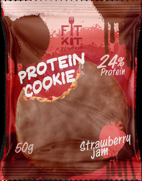 FitKit Choco Protein Cookie 50гр (Клубника)